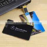Custom logo 4gb credit card usb flash drive , promotional business plastic card USB flash stick