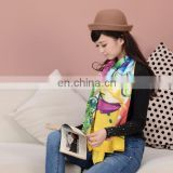 2015 customize design digital printed scarf cotton chiang mai