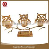 New and creative tabletop owl modeling metal halloween decorations