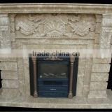 Emperador Light Marble Electric Fireplace MFC171