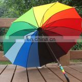 Rpet multicolored straight umbrella,outdoor straight umbrella