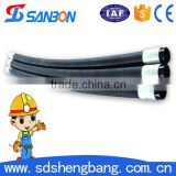 black concrete pump rubber delivery hose/black concrete pump rubber delivery hose/high pressure hydraulic pipe fittings