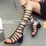 B33260A Korea new Summer Fashion Sexy Women PU Sandals Boots