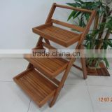 ACACIA 3 TIER WOODEN FOLDING SHELF`