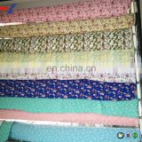 Printed 10S Rayon nylon spandex bengaline fabric with elastic for pants