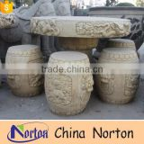 Outdoor natural marble garden stone tables and chairs NTS-B273A