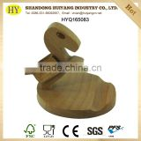 custom wooden animal funny cell phone holder for desk