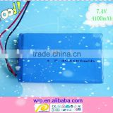 7.4V4100mAh li polymer battery pack for camera, projector, interphone, electric gift products etc.