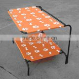 two tier pet dog bed metal format