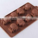 Animal design silicone cake mold /hot sale chocolate mold