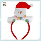 Red and White Fleece Snowman Party Funny Christmas Headbands HPC-1073