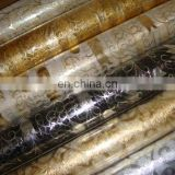 2015 high quality decoration bronzing organza roll flower wrapping printed roll