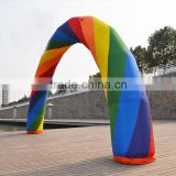 2015 rainbow inflatable arch for sale/inflatable advertising arch