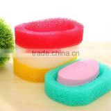 Loofah sponge new design soap dish for bathroom colorful soap box                                                                                                         Supplier's Choice