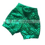 Hight Waist Birthday Mermaid Fin Print Children Shorts