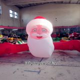 Customized Christmas Santa Claus Inflatable Santa Head for Xmas Decoration