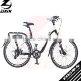 Aluminum alloy 6061 frame mechanical disc brake 26 inch 24 speeds hydraulic fork city bicycle with NOVATEC hub