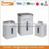 Square Metal rice storage container bin