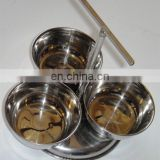 stainless steel salad bowl set of 3 pcs