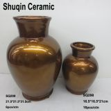 modern flower vase factory wholesale ceramic vase painting dolomite vase for home decor