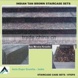 Tan Brown Granite Staircase steps stones