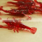 red artificial Shrimp Baits with Fishy Smell