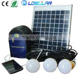 Compact and portable 6W 18V solar home lighting system