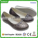 Ladies fashion quality modern woman four season pvc shoes