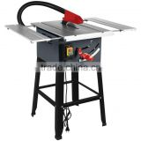"10"" Woodworking Machinery Table Saw with 2 Alu profile slide extension table"