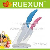 KTC006 - Hot Sale 2pcs Kitchen Ceramic Knife Set with Acrylic block.