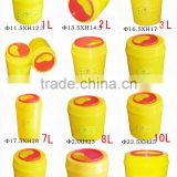 high quality Round plastic safety container