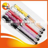 4 in 1 Crystal Stylus pen with LED and laser pen