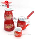 red design hot sale flower decal elegant useful coffee cup/milk pot