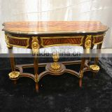 BISINI Gold Foil Carving Table Console