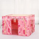 Multifunction lovely pattern cloth household clear storage box