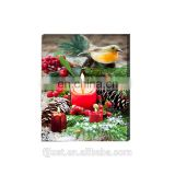 Wholesale christmas decorative painting wall art canvas painting with LED light