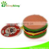 Delicious Med Humburger Pet Products Pet Vinyl Toys with Deep for Dogs