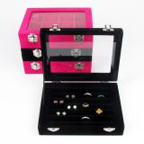 Velvet Gift Jewelry Collection Box Bracelet Ring Necklace Earring Display Boxes Case