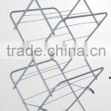 Stainless Steel Folding stand clothes hanger rack for Sale