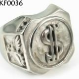 Customized Titanium Steel Jewelry Ring / 316l Stainless Steel Rings Men