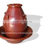 Ceramic fountain, outdoor garden fountain QH