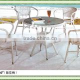 Chrysanthemum pattern outdoor furniture set