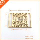 square shape fashion metal accessory for clothes