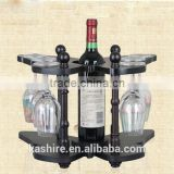 European style creative wine rack, wooden frame, wooden butterfly wine shelf