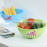 Plastic round shape kitchen plastic fruit storage basket