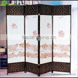 Canvas screen room divider folding screen room divider painted room divider whole sale GVSD019