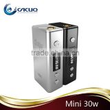 Easy to charge Adjustable electrode verified quality cloupor mini box mod cloupor mini 30watt