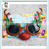 Novelty Cheap Plastic Funny Reindeer Christmas Party Sunglasses HPC-1027