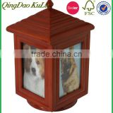 top quality solid wood wooden dog cremation urn