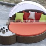 rattan&wicker round bed